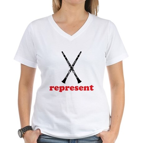 Clarinet Represent Women's V-Neck T-Shirt