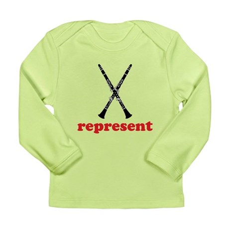 Clarinet Represent Long Sleeve Infant T-Shirt