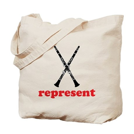 Clarinet Represent Tote Bag