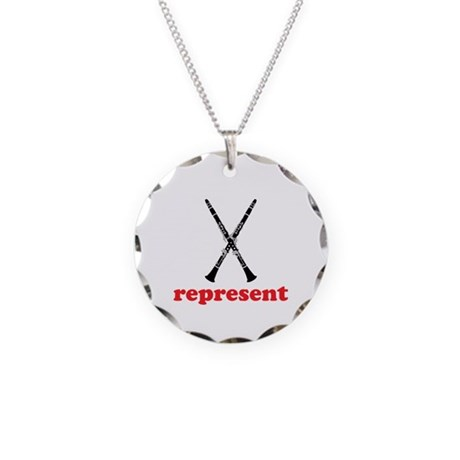 Clarinet Represent Necklace Circle Charm