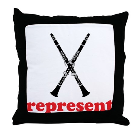 Clarinet Represent Throw Pillow