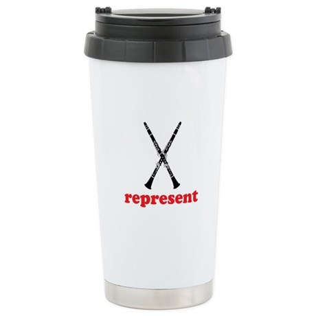 Clarinet Represent Ceramic Travel Mug