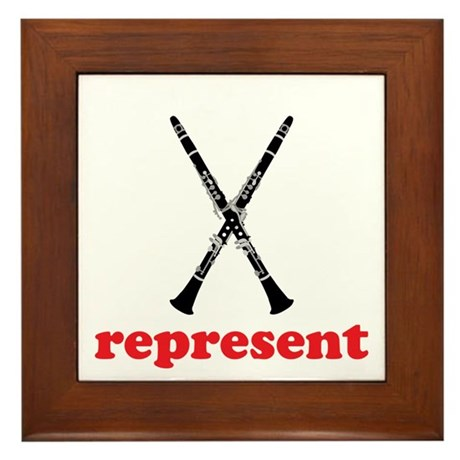 Clarinet Represent Framed Tile