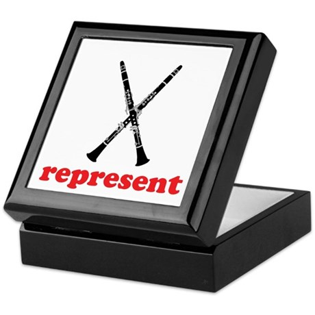 Clarinet Represent Keepsake Box