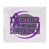 Pancreatic Cancer Together Throw Blanket