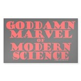 Modern Science Rectangle Decal