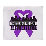 Pancreatic Cancer Support Throw Blanket