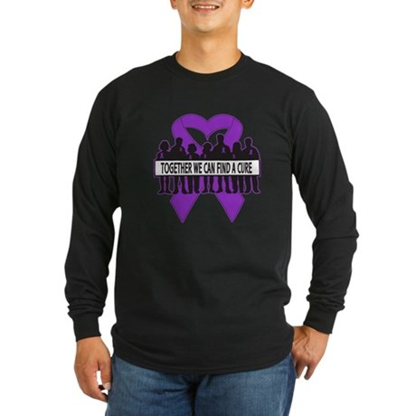 Pancreatic Cancer Support Long Sleeve Dark T-Shirt
