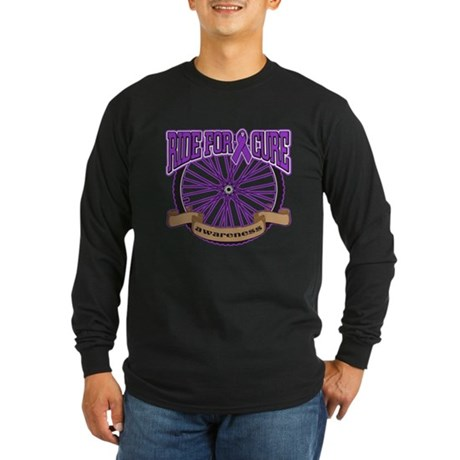 Pancreatic Cancer Cure Ride Long Sleeve Dark T-Shi