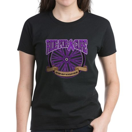 Pancreatic Cancer Cure Ride Women's Dark T-Shirt