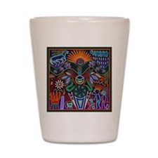 Chapala Huichol Shot Glass