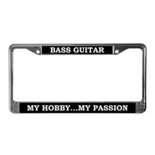 Bass Guitar License Plate Frame