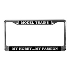 Model Trains License Plate Frame