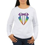 Rainbow Tuxedo Women's Long Sleeve T-Shirt