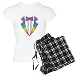 Rainbow Tuxedo Women's Light Pajamas