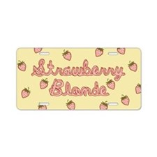 Strawberry Blonde Aluminum License Plate