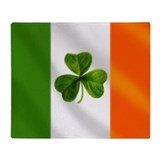 Irish Shamrock Flag Throw Blanket