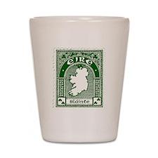 Eire Slainte Irish Clover Shot Glass