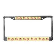 Cutie Strawberries License Plate Frame