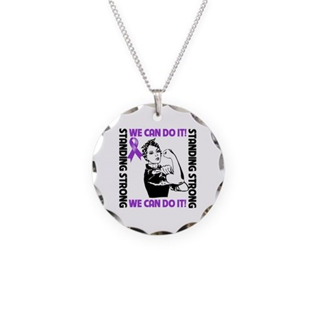Pancreatic Cancer WeCanDoIt Necklace Circle Charm