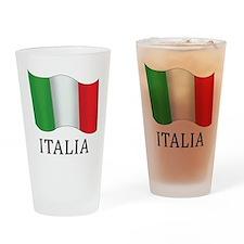 Italia Flag Drinking Glass
