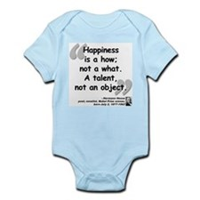 Hess Happiness Quote Onesie