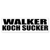 Walker Koch Sucker Bumper Sticker