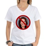 No Michele 2012 Women's V-Neck T-Shirt
