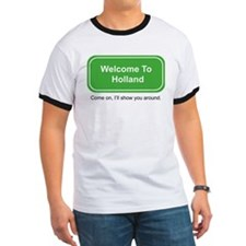Welcome to Holland ringer T-shirt