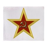 Soviet Star Throw Blanket