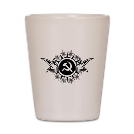 Stylized Hammer & Sickle Shot Glass