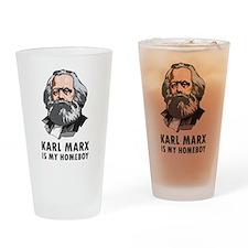 Karl Marx Is My Homeboy Pint Glass