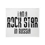 Rock Star In Russia Throw Blanket