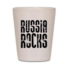Russia Rocks Shot Glass