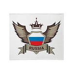 Russia Emblem Throw Blanket