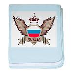 Russia Emblem baby blanket