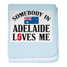 Somebody In Adelaide baby blanket