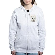 Westie Dog Zip Hoodie