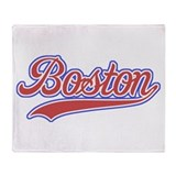 Retro Boston Throw Blanket