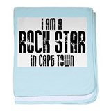 Rock Star In Cape Town baby blanket