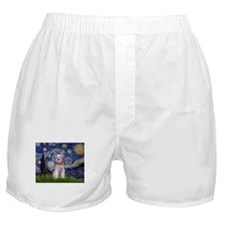 Starry Night Schnauzer Boxer Shorts