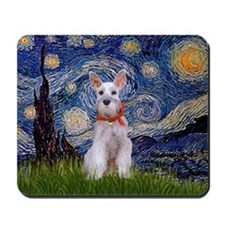 Starry Night Schnauzer Mousepad