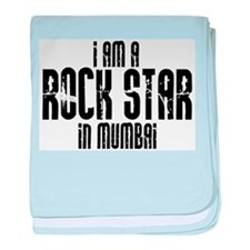 Rock Star In Mumbai baby blanket