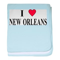 I Love New Orleans baby blanket