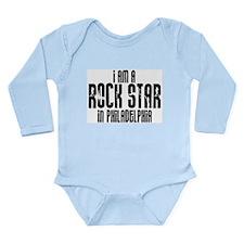 Rock Star In Philadelphia Long Sleeve Infant Bodys