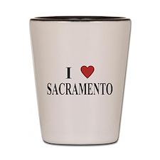 I Love Sacramento Shot Glass