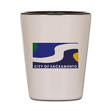 Sacramento Flag Shot Glass