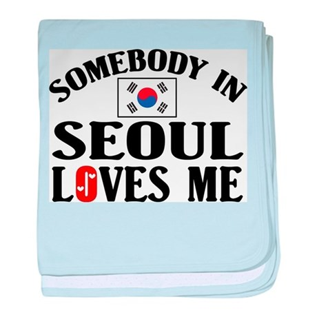 Somebody In Seoul baby blanket