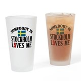 Somebody In Stockholm Pint Glass