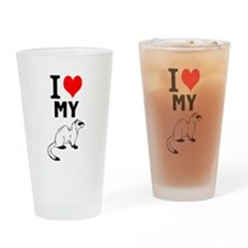 """ I Love my Ferret"" Pint Glass"